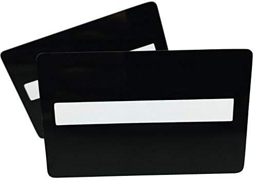 Premium Plastikkarten | PVC Karten SCHWARZ mit UNTERSCHRIFTFELD | 1-500 Stück | Blanko Rohlinge | NEU! (25)