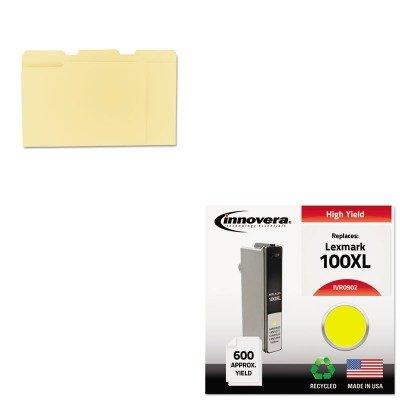 Compatible Reman Ink - KITIVR0902UNV12113 - Value Kit - Innovera Compatible Reman High-Yield 14N0902 100XL Ink (IVR0902) and Universal File Folders (UNV12113)
