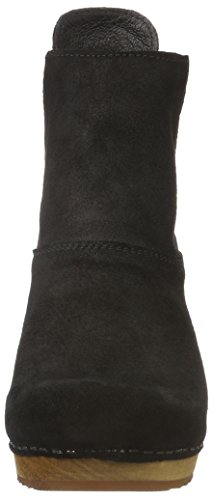 Sanita Lilly Square Boot, Zapatillas de Estar por Casa para Mujer Negro - Schwarz (Black 2)