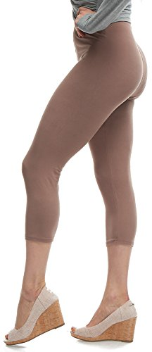 (Lush Moda Extra Soft Leggings - Variety of Colors - One Size - Mocha)