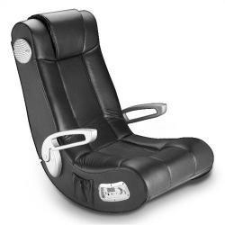 Nascar Video Rocker (Ace Bayou 51233 X-Rocker II Gaming Chair, Black/Silver)
