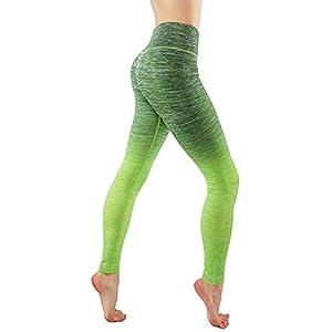 CodeFit Yoga Power Flex Dry-Fit Pants Workout Printed Leggings Ombre Print XS-3XL