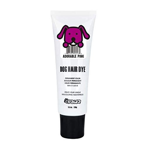 Owpawz DOG HAIR DYE GEL Bright, Fun Shade, Semi-permanent, completely non-toxic safe (PINK) -