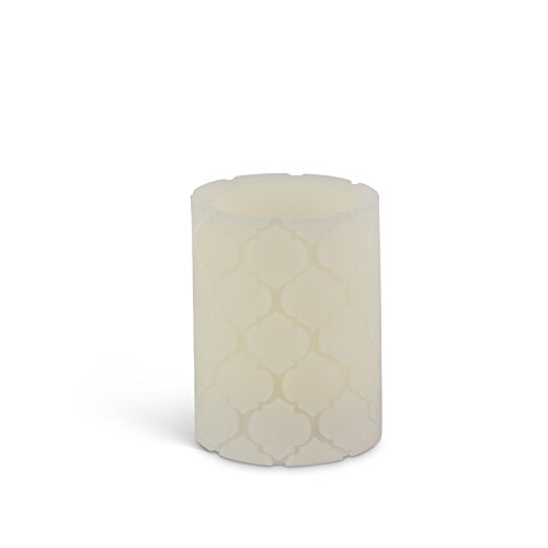 Everlasting Glow Home Carved Candle Flameless Wax LED, 3