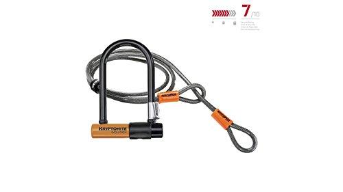 Kryptonite 2079 New-U Evolution Mini-7 Heavy Duty Bicycle U Lock w/4' KryptoFlex Double Loop Bike (Double Loop Locks)