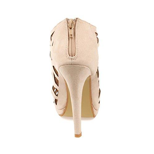 De Mujer Beige La Para Vestir Modeuse Sandalias TqBzP