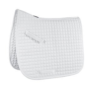 Rider's International by Dover Saddlery Contoured Box Quilt Dressage Pad - White, Dress