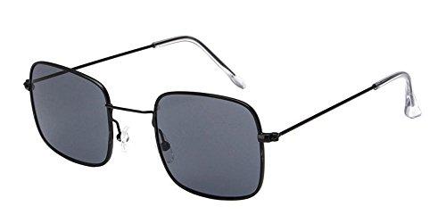 Mode Unisex Cadre Gris soleil UV400 Femmes Noir XFentech Lentille Rectangulaire de Classique Lunettes Lunettes pBnUwx