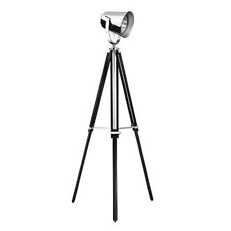 Lámpara de pie con trípode proyector de madera y metal ...