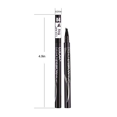 Eyebrow Pen, Long-lasting Waterproof Eyebrow Tattoo Pen, Microblading Eyebrow Pencil with a Micro-Fork Tip Applicator Creates Natural Looking Brows Effortlessly, Brown