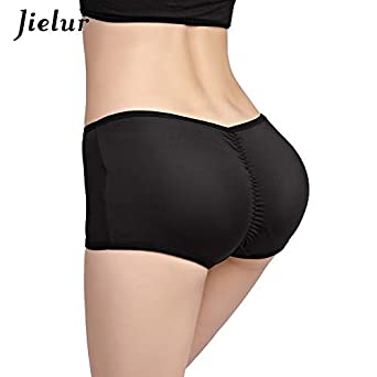 HITSAN INCORPORATION Jielur Women Corset Plus Size Solid Color Padded Panties Butt Hip Enhancer Underwear Hot