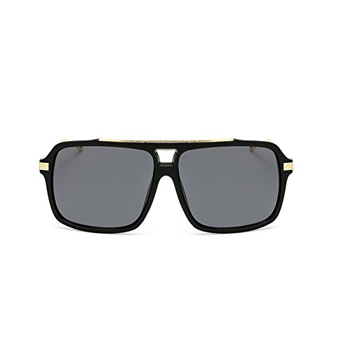 Black Sol Big Hombre Classic Unidos de Color Black Pareja Sunglasses Explosions Gray para Gafas Estados Box Frog Retro Classic Europa Mercury Box Box Mirror y Sand Trend IwqPzR