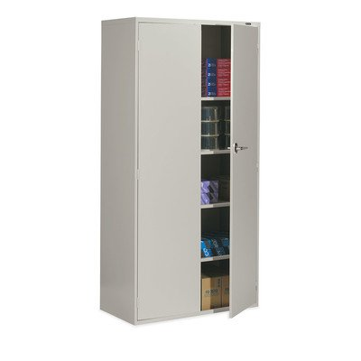Global 9336-S72L-LGR 2 Door 3 Shelves Office Storage Cabinet