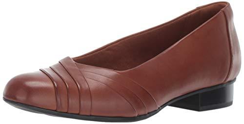 CLARKS Women's Juliet Petra Pump, tan Leather, 10 M US