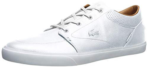 Lacoste Men's Bayliss Vulc Premium Fashion Sneaker, white/white, 7 M US