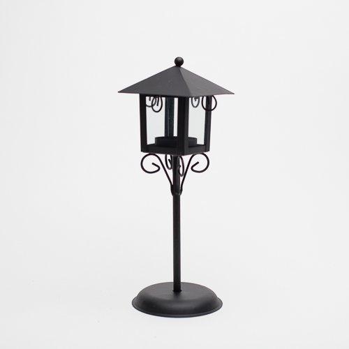 - Richland Standing Metal Tealight Lantern Black Set of 12