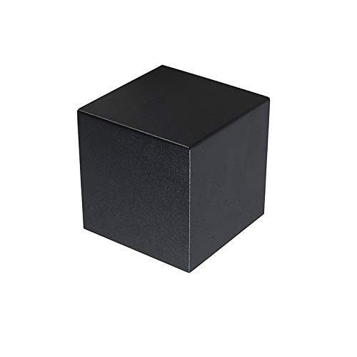 QAZQA Design Moderne wandlamp zwart – Cube Aluminium Kubus Geschikt voor LED Max. 1 x 40 Watt