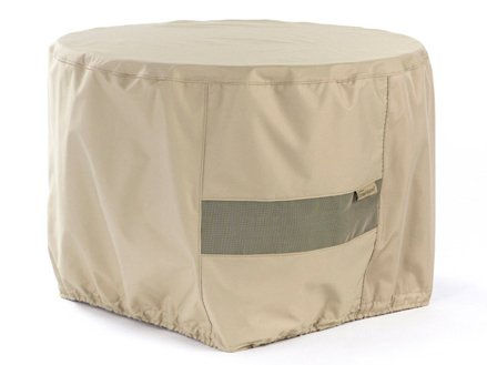 CoverMates – Round Firepit Cover – 42DIAMETER x 25H – Elite Collection – 3 YR Warranty – Year Around Protection - Khaki by CoverMates