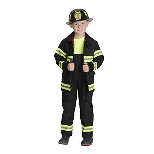 Aeromax Jr. Fire Fighter Bunker Gear, Black, Size 4/6