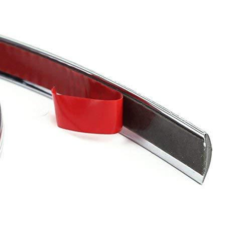 /Modanatura cromata 12/mm x 8/m Universal Auto flessibile protezione bordi aste nastro adesivo decorazione bordi cromate listello decorativo cromato Contorno cromato/