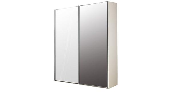 Elstra 150 cm armario con puertas correderas cristal y espejo ...