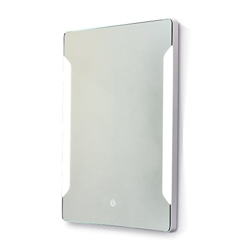 Stamo Vanity Bathroom Silvered Anti-Fog Mirror LED Lighted with Touch Button Vertical Bathroom Vanity Lighted, dimmable Lighting Mirror by Stamo (Image #2)