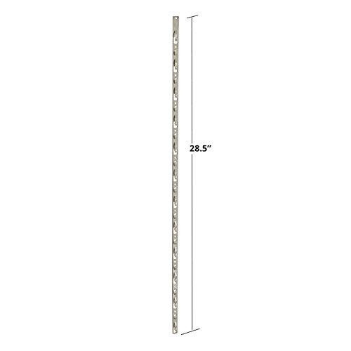 10 Pc New Almond 12 Station Metal Display Strips with Tie Strap 28.5''H x 0.5''W