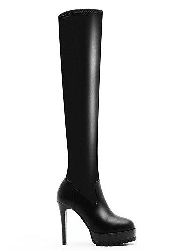 Uk6 Black Stiletto Y Zapatos Vestido us8 Eu36 Mujer 5 Fiesta Casual Cn39 Tacón Xzz Negro Sintético A Noche La Moda Moto De 5 Botas Black Cn35 us5 Uk3 Eu39 qBwOInRI
