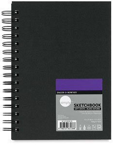 DALER-ROWNEY/FILA CO 481500811 SIMPLY SKETCHBOOK WIREBOUND 65LB 80SHT 8.5X11 from DALER-ROWNEY/FILA CO