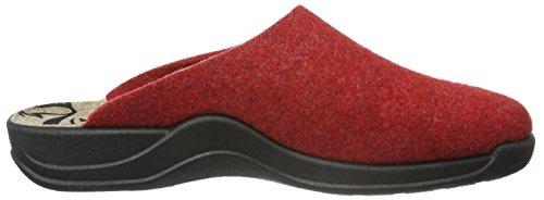 Rohde Vaasa-D, Zuecos para Mujer Rojo - rojo (cherry 43)