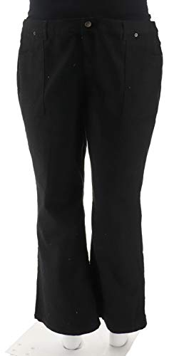 Liz Claiborne NY Iconic WovenJackie Colored Boot Cut Jeans Black 14P # A256494