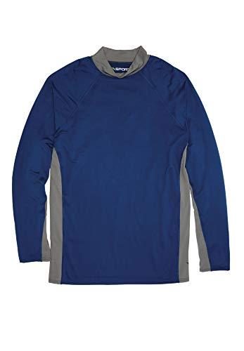 Kingsize Sport Collection Men's Big & Tall Mock Neck Base Layer Shirt, Midnight Navy Tall-L ()