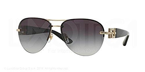 59B Sunglasses Pale Gold / Grey Gradient 59mm & Cleaning Kit Bundle ()