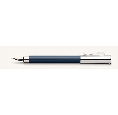 - Graf von Faber-Castell Fountain Pen, Medium Nib (M), Tamitio Midnight Blue (FC141710)