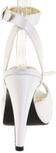 Pinup Couture Damen Bettie-04 Offene Sandalen Ivory Satin
