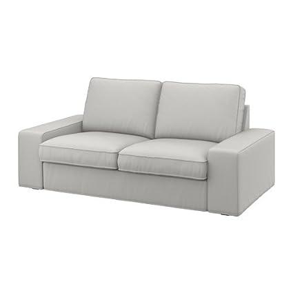 Admirable Ikea Kivik Cover Two Seat Sofa Ramna Light Grey 120X180 Machost Co Dining Chair Design Ideas Machostcouk