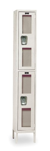 Safety-View Stock Lockers - Double Tier - 1 Section (Assembled) Dimensions (W x D x H): 12