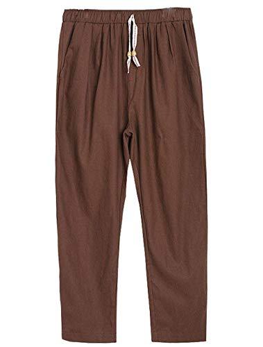 Dei Cargo Moda Di Sciolti Uomini Joggers Harem Coulisse Con Epoca Pantaloni Della Elastici Chino Saoye Giovane Kaffee Lino Fashion Vita gnqE4SwZ