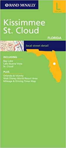 St Cloud Florida Map.Rand Mcnally Kissimmee St Cloud Florida Local Street Detail Rand