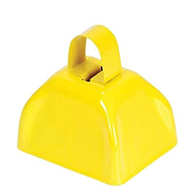 Rhode Island Novelty 3 Inch Yellow Metal Cowbell 12-Count: Musical Instruments