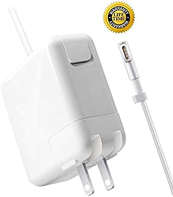 Mac Book Pro Charger, Replacement 60W Magsafe 1 Power Adapter L-Tip Magnetic Connector Charger for Apple MacBook Pro 11 and 13 inch (2009-Mid 2012)