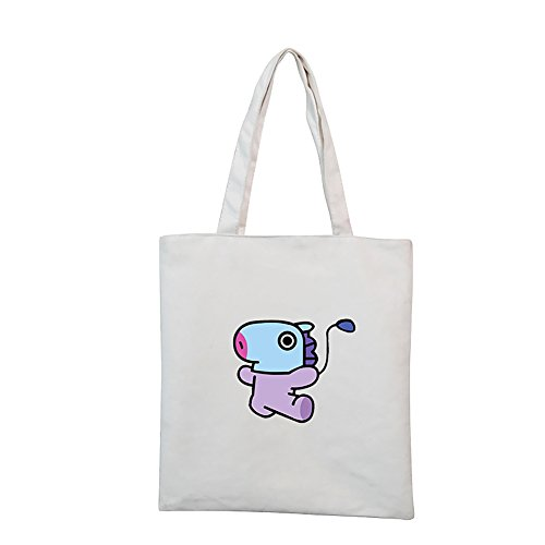 Bts Printed And Sides Both bt21 Hand Kpop By Bag Tote On Sewn Mang xIw6pfT