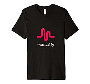 Amazon.com: musical.ly wave classic T-Shirt (Fitted Cut): Clothing