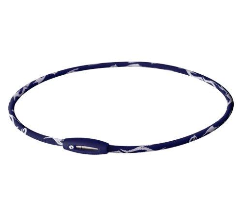 Phiten Titanium Necklace X30 Tribal II Navy (Phiten X 30 Titanium Necklace)