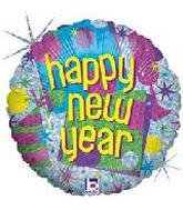 18'' Happy New Year (18' Holographic Balloon)