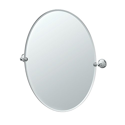Gatco 4961 Franciscan Large Oval Wall Mirror, Chrome