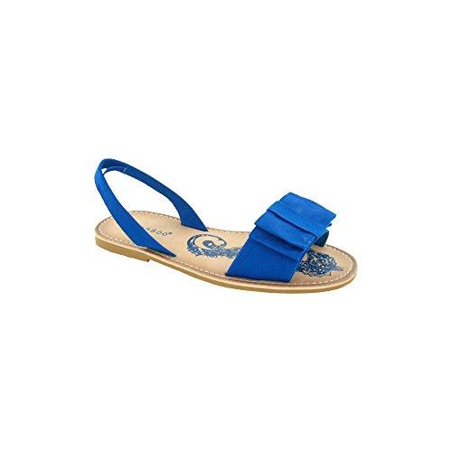 Punto Sui Sandali Da Donna In Pelle Sintetica Blu