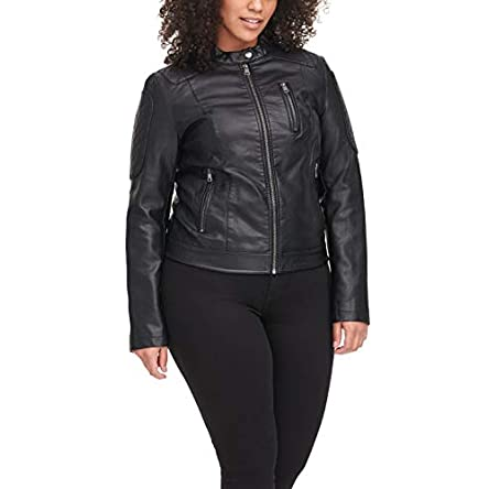 Levi's womens Faux Leather Motocross Racer Jacket...