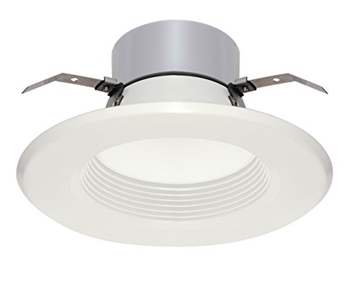Satco S9126 LED Downlight Retrofit 5-6' Baffle 3000K Medium Base Dimmable Light Bulb, 13W
