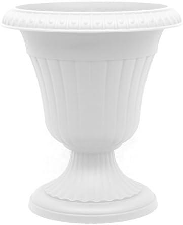 Pflanzkübel Blumenspindel Pflanzschale Milano ∅25cm Weiß